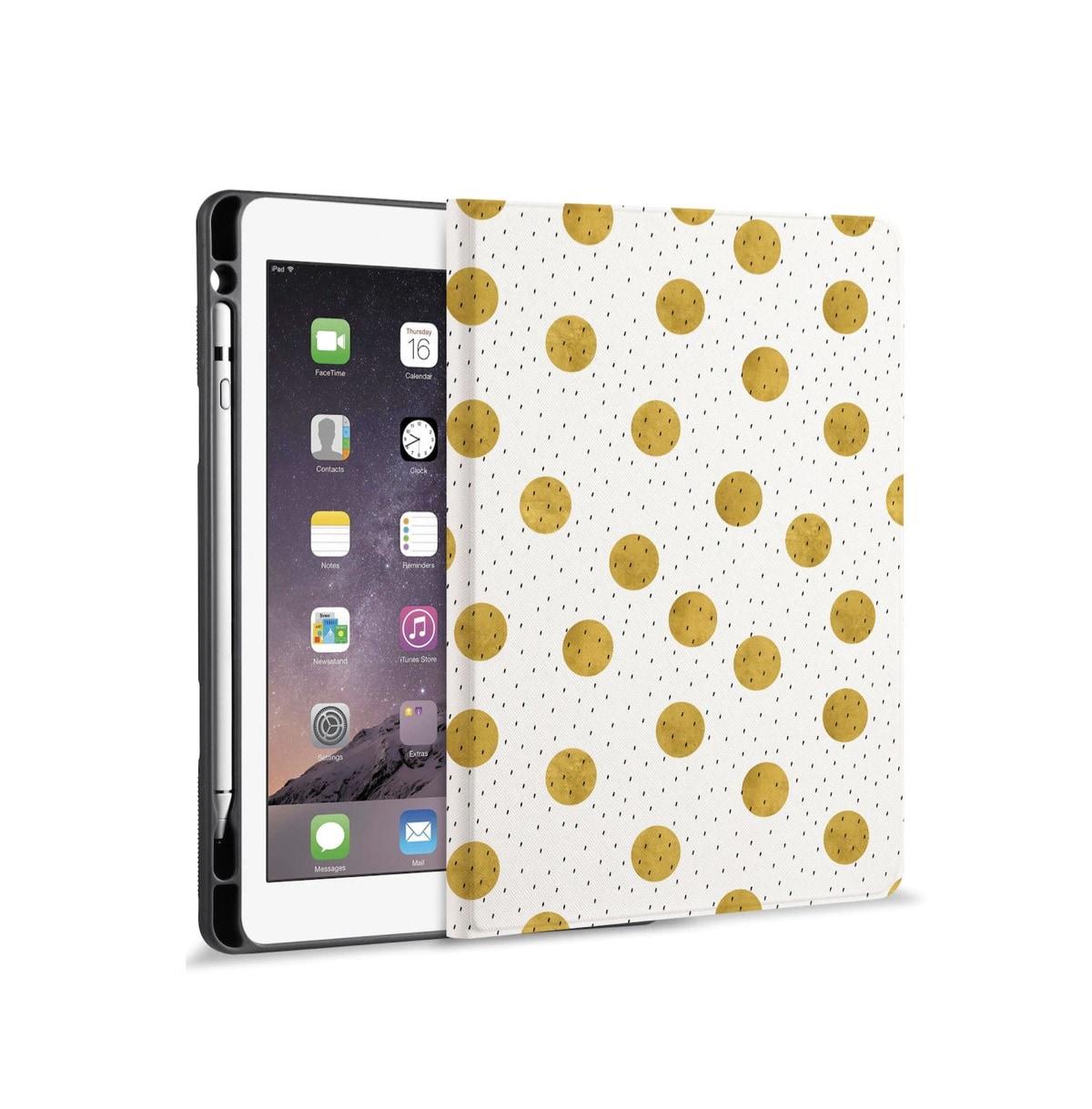 Cute Apple iPad 10.2 case cover with Apple Pencil holder - 2021 season