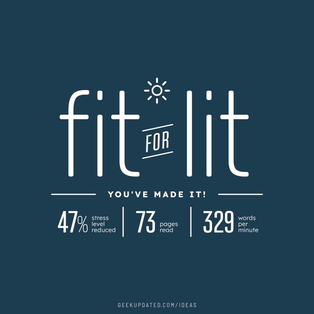 Fit for lit - design by Piotr Kowalczyk Geek Updated