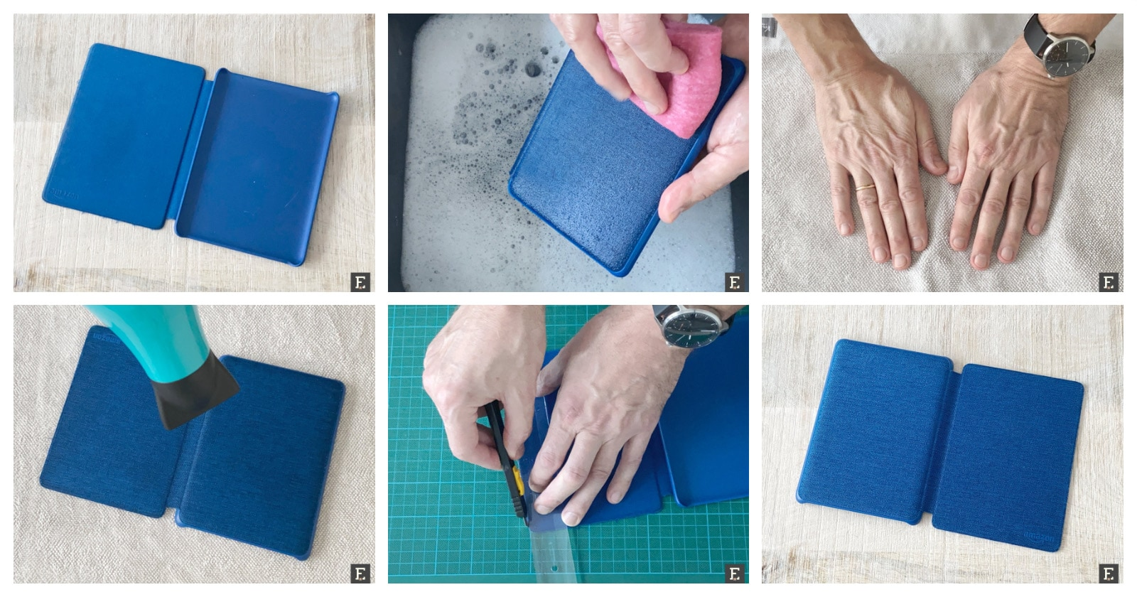 How to clean fabric Kindle case quickly safely