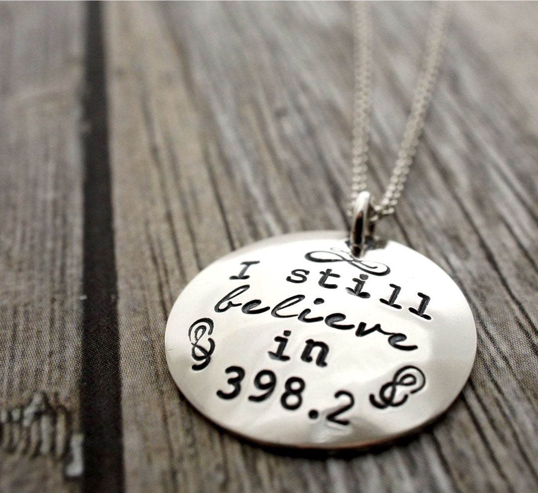 I still believe in 398 necklace - best gifts for library lovers