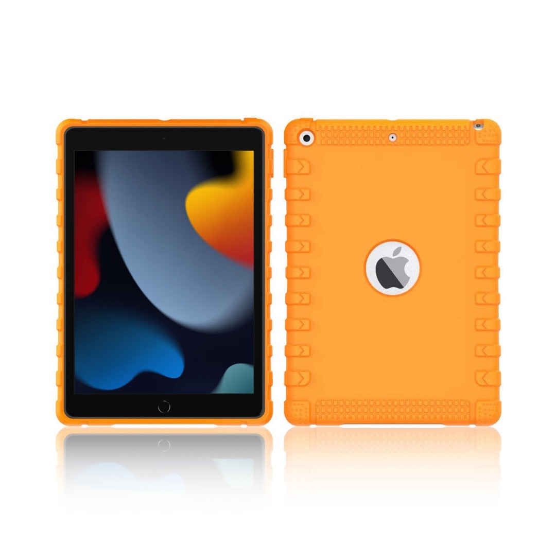 Kid-friendly iPad 10.2 silicone bumper case for 2021 and 2020 model