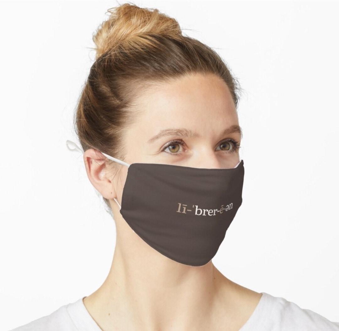 Librarian phonetic notation face mask - best merch for libraries