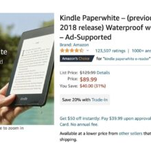 Previous Kindle Paperwhite is on sale, and you can save even $65