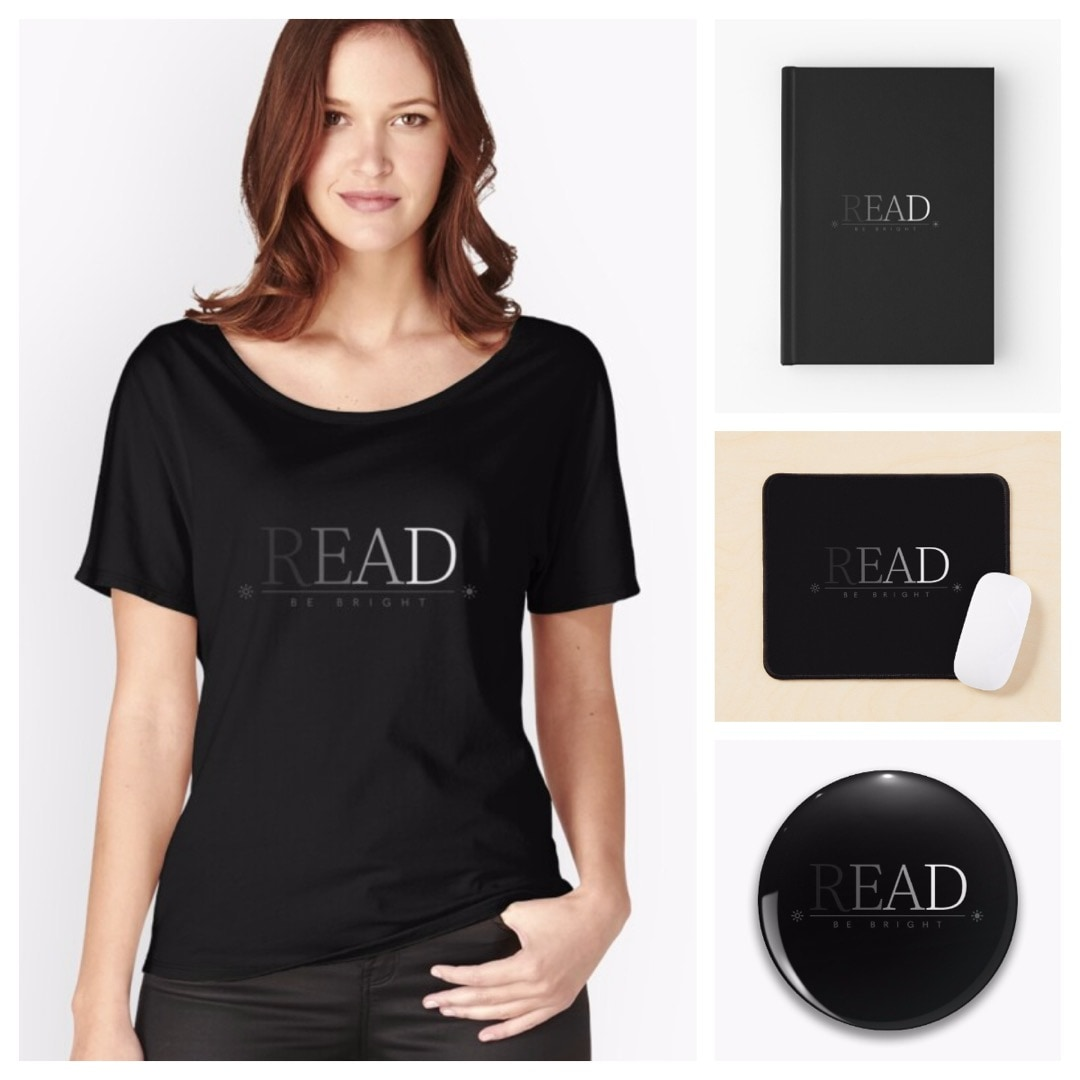 Read and be bright tshirt mouse pad notebook