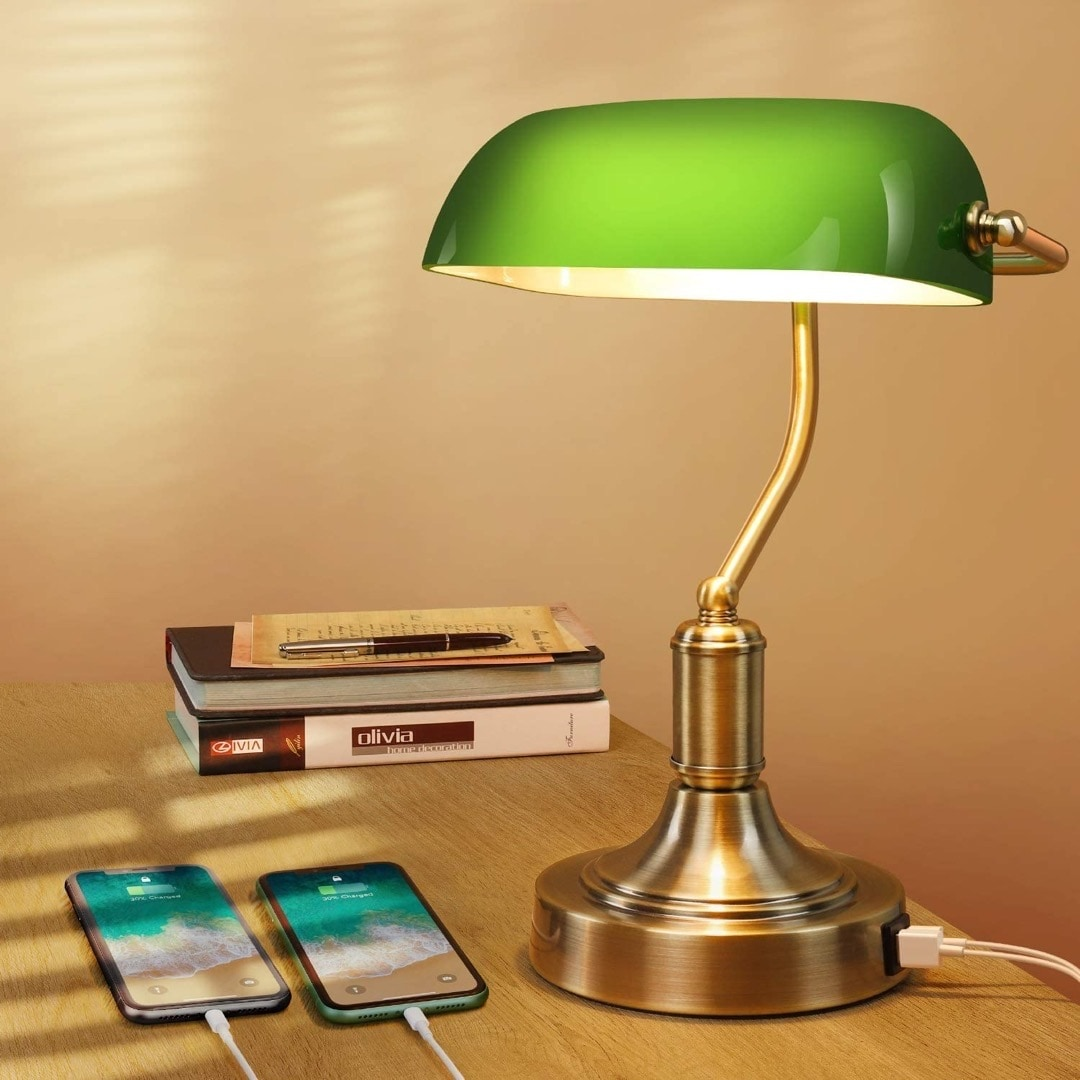 Vintage library desk lamp - best library merch