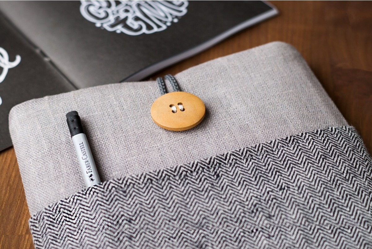 Natural cotton sleeve for Kindle Paperwhite 6.8
